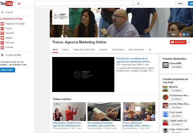 estrategia online Youtube