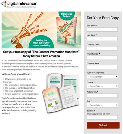 landing page digital  relevance