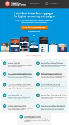 do the landing page course
